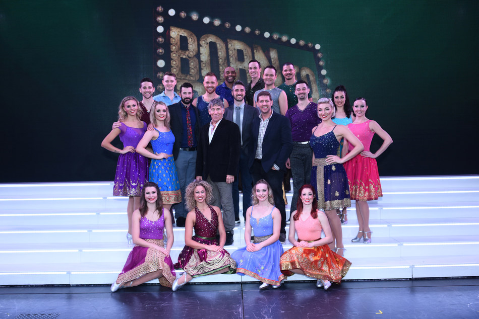 """Stephen Schwartz and Daniel C. Levine, pictured center, along with the """"Born To Dance"""" creative team and cast following the New York Premiere on board Regal Princess"""