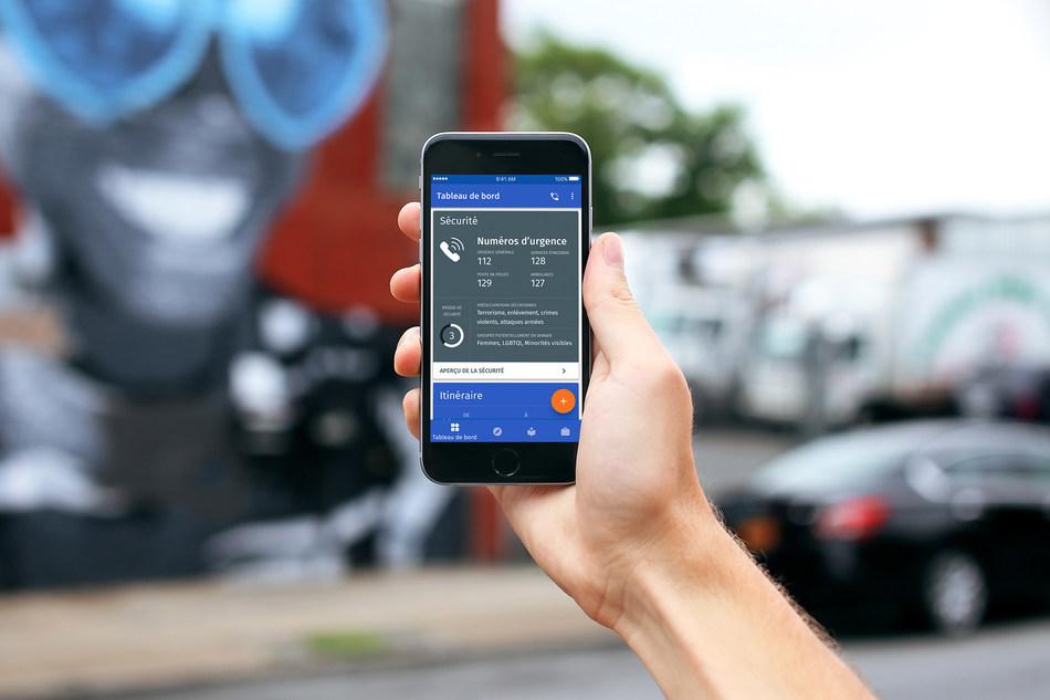 Travel Navigator est une application Web et mobile innovante qui n'a qu'un seul objectif : informer les voyageurs et leur permettre de se sentir en sécurité. (Groupe CNW/Ingle International Inc.)