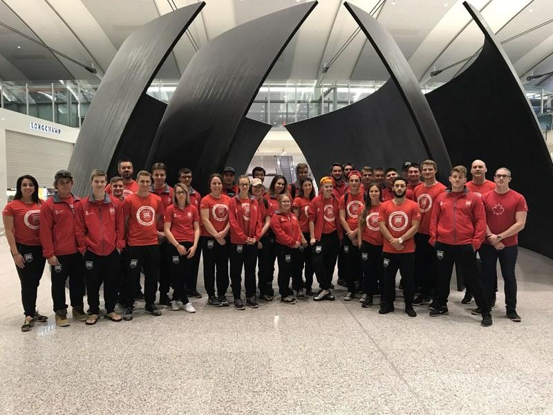 Équipe Canada WorldSkills 2017 est en route pour le 44e Mondial des métiers, à Abou Dhabi. (Groupe CNW/Skills/Compétences Canada)