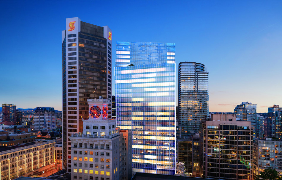 GWL Realty Advisors has officially broken ground on Vancouver Centre II, a 33-storey AAA office tower in downtown Vancouver. The 371,000 square foot building will be constructed at 753 Seymour Street in the heart of downtown Vancouver's burgeoning tech hub. (CNW Group/GWL Realty Advisors)