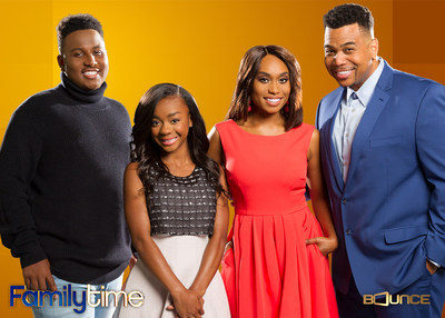 Bounce (@BounceTV) premieres new episodes of the hit comedy Family Time Monday nights at 9:00 p.m. ET/PT. Family Time stars Omar Gooding (Tony) and Angell Conwell (Lisa) as a pair of high school sweethearts living a new life in the suburbs with their mischievous children, played by Bentley Kyle Evans, Jr. and Jayla Calhoun. Visit BounceTV.com for more info. Visit BounceTV.com for more info.