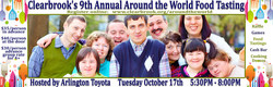 The ninth-annual Clearbrook Around the World Food Tasting charity event will take place October 17th at Arlington Toyota.