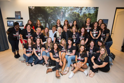 Gary Sinise (center) and his Gary Sinise Foundation's Relief & Resiliency program worked with TAPS (Tragedy Assistance Program for Survivors) and American Airlines to bring 24 spouses of fallen service members to Los Angeles for a multi-day Hollywood Adventure!