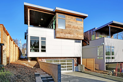 Built Green home built by Dwell Development in the Seattle area. Built Green is the green building certification program of the Master Builders Association of King and Snohomish Counties.