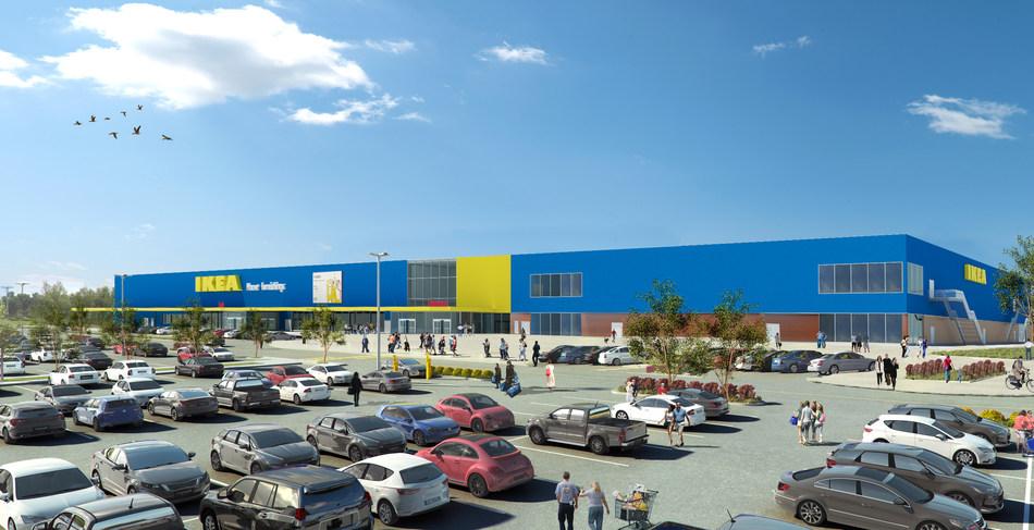 IKEA Canada annonce l'ouverture d'un magasin qui proposera tous l'assortiment IKEA, à London, en Ontario (Groupe CNW/IKEA Canada)