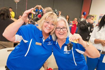 Boys & Girls Club staff members receive keys to donated Toyota vehicles in Houston, Tex.