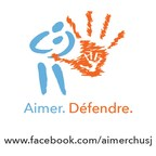 Logo: Aimer. Défendre (Groupe CNW/CMDP CHU Sainte-Justine)