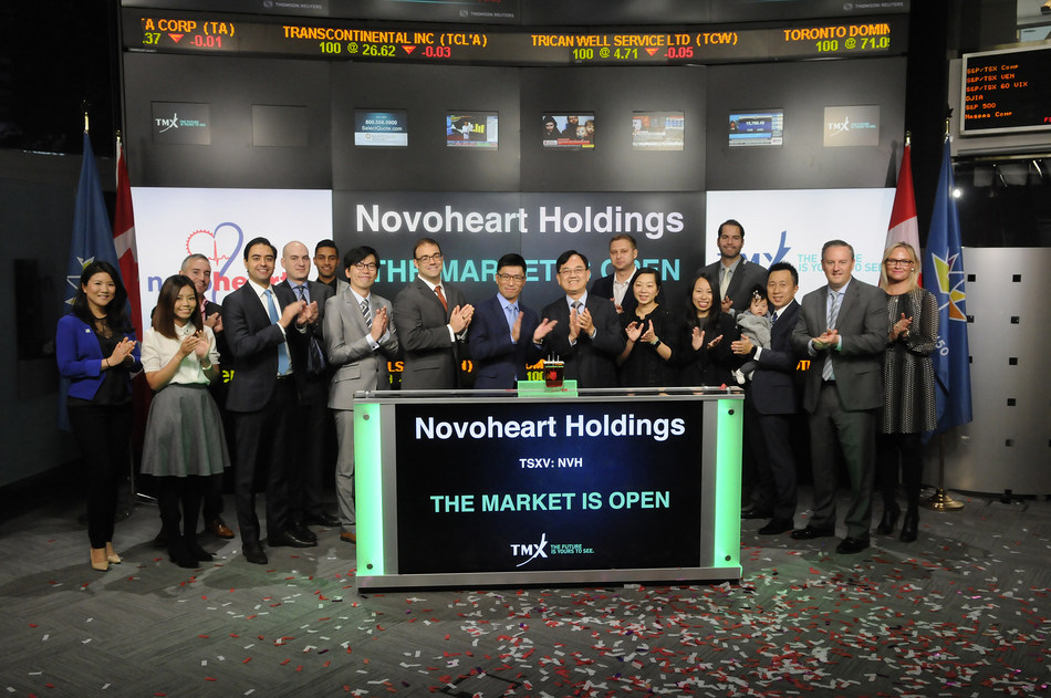 Novoheart Holdings Inc. Opens the Market (CNW Group/TMX Group Limited)