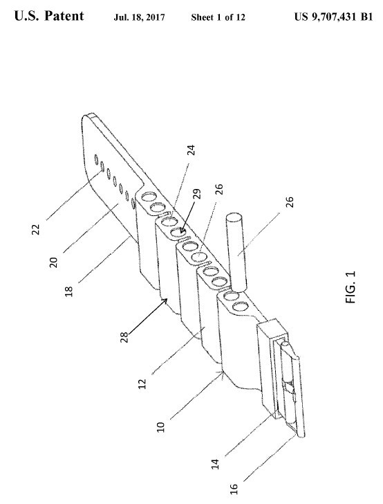 The utility patent application for this product was filed on March 15, 2017. The patent was issued July 18, 2017, just four months after filing.