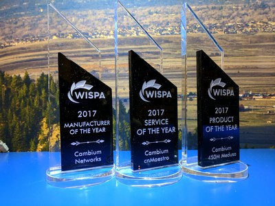 A Cambium Networks ganha os Prêmios da WISPAPALOOZA (PRNewsfoto/Cambium Networks)