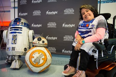 Pediatric patients at CHOC Children's Hospital in Orange County, Calif., enjoy a day of fun activities with their favorite Star Wars characters and the first-ever distribution of new Star Wars-themed Starlight Brave Gowns generously provided.
