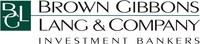 Brown Gibbons Lang & Company Corporate Logo (PRNewsFoto/Brown Gibbons Lang & Company)