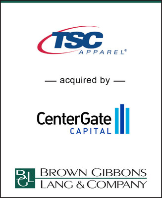 "Brown Gibbons Lang & Company (""BGL"") is pleased to announce the sale of TSC Apparel, LLC (""TSC Apparel"") to an affiliate of CenterGate Capital (""CenterGate""). BGL's Consumer Products & Retail team served as the exclusive financial advisor to TSC Apparel. Terms of the transaction were not disclosed."