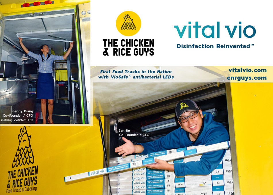 Boston's Chicken & Rice Guys are first food truck in the nation to add Vital Vio's  germ killing VioSafe™ lights, to enhance food safety.