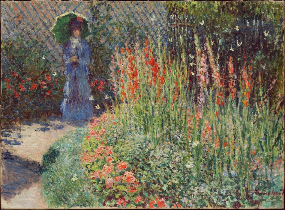 """Rounded Flower Bed (Corbeille de fleurs),"" 1876, Claude Monet, oil on canvas. Courtesy of the Detroit Institute of Arts"