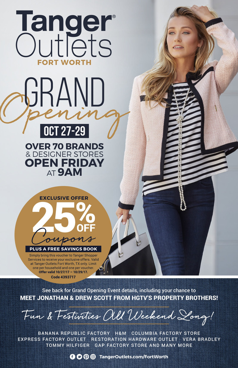 Tanger Outlets Fort Worth to Celebrate October 27th Grand Opening