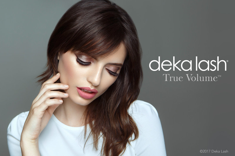 An advanced image of Deka Lash True Volume Lashes from their upcoming 2018 Branding Campaign
