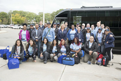 The 27-member Northwell Health medical mission team gathered in New Hyde Park Thursday en route to Puerto Rico.