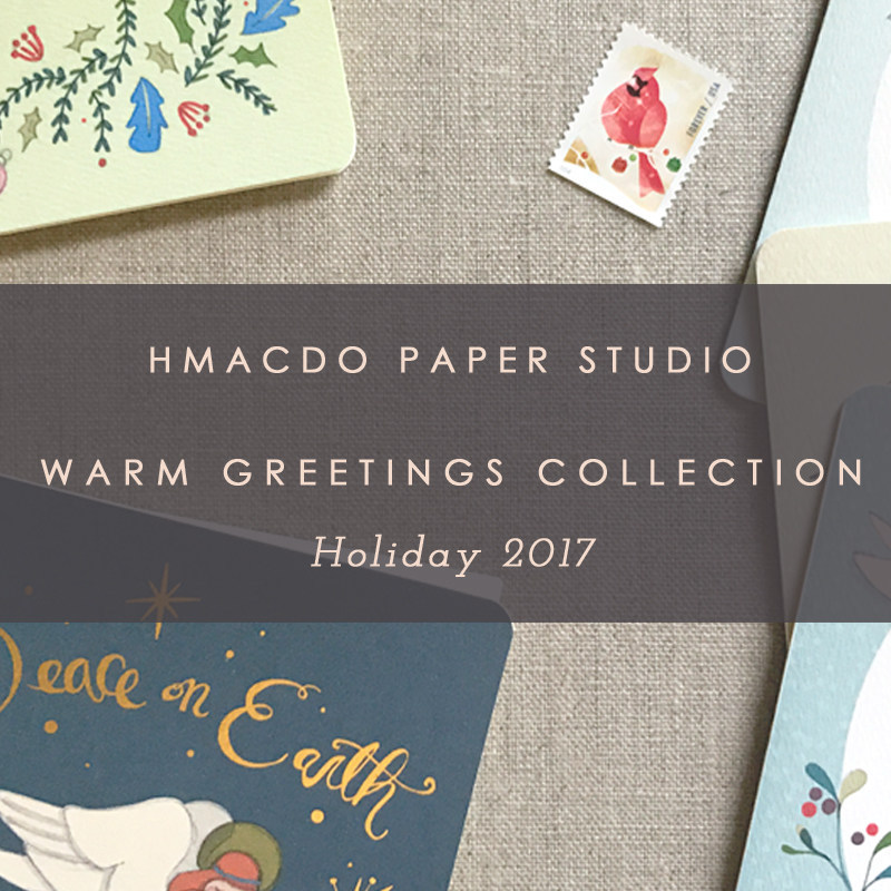 Announcing a brand new illustrated greeting card collection for holiday 2017 by Hmacdo Paper Studio