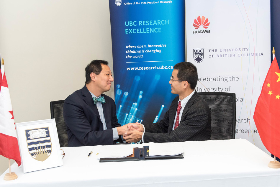 UBC President Santa Ono and Huawei Canada Research President Christian Chua (CNW Group/Huawei Canada)