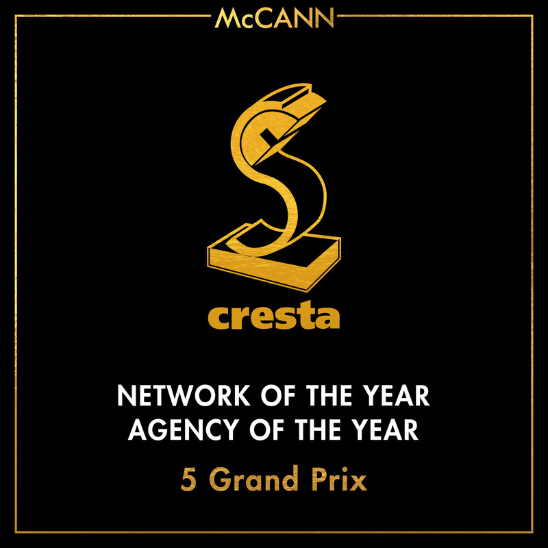 McCann Named Network and Agency of the Year at the Cresta Awards