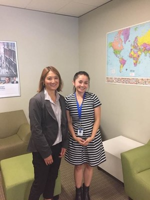 State Rep. Mia Gregerson, D-SeaTac, and Multi-Lingual Call Center Supervisor Tawny Nguyen