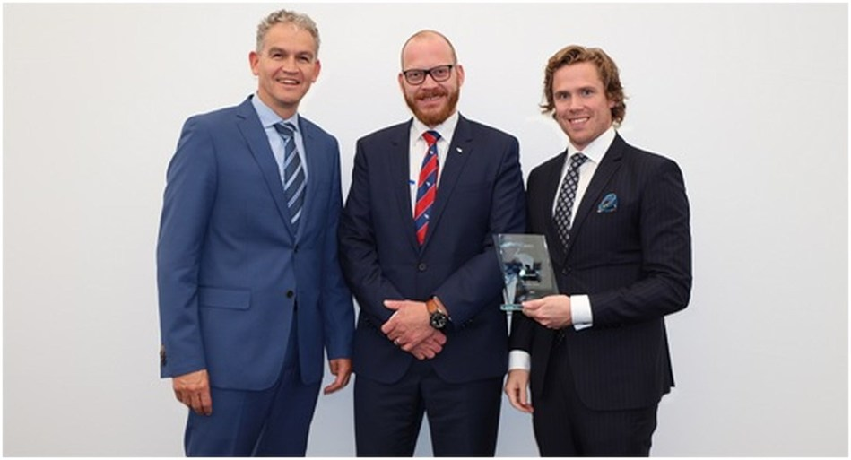 From left to right Marcel van Bussel, Global Account Manager Nedschroef; Bernard Schmitz, Deputy General Manager Purchasing and Anders Nyqvist, Account Director Nedschroef (PRNewsfoto/Koninklijke Nedschroef Holding)