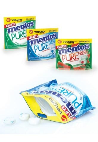 New Mentos™ Gum Packs Feature VELCRO® Brand Closure