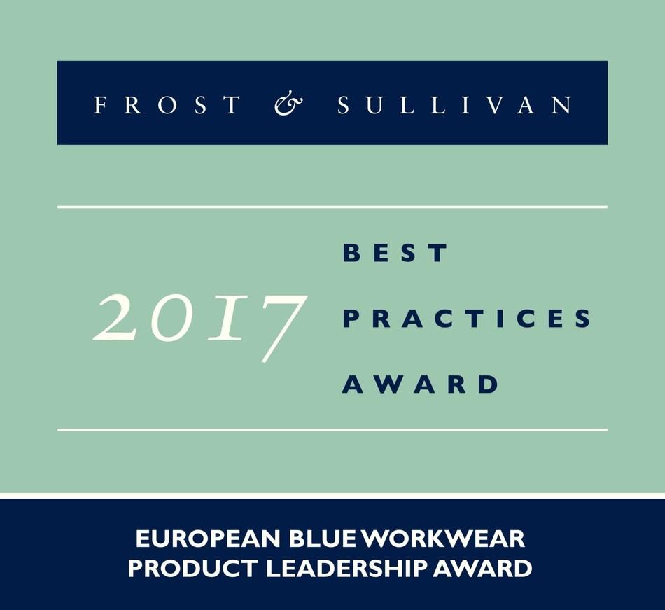 2017 European Blue WorkwearProduct Leadership Award (PRNewsfoto/Frost & Sullivan)