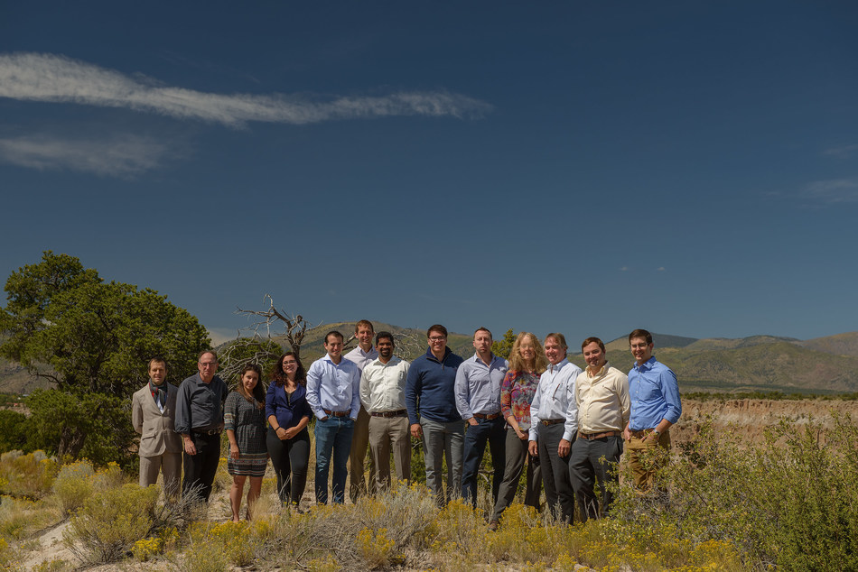Photo of the UbiQD team taken at its recent September board of directors meeting a short walk from the quantum dot company's headquarters in Los Alamos, NM. Credit: UbiQD, Inc.
