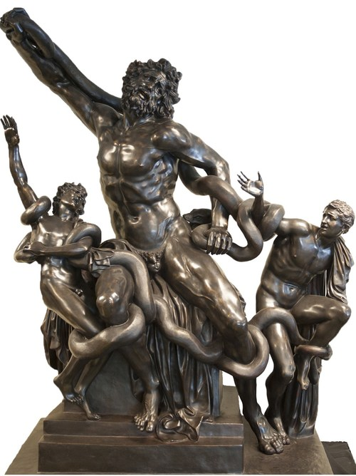 Life-size casting of Laocoon Group, 7' by 8'