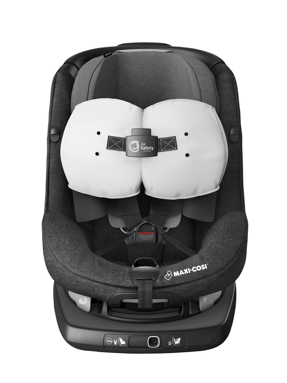 Maxi-Cosi, www.maxi-cosi.co.uk, has launched the world's first child car seat with built-in airbags which is set to become the new standard in forward seating car seats: the Maxi-Cosi AxissFix Air will be available in selected UK stores and online from www.maxi-cosi.co.uk  from October 17th, RRP £550.000.  The Maxi-Cosi Air Safety technology® will lower the impact of an accident to a child's neck and head in a forward-facing child car seat, resulting in better safety for toddlers....