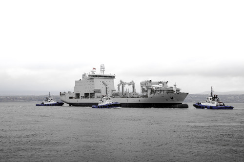 All Systems Go: Like Clockwork, the Resolve-Class Naval Support Ship is Launched (CNW Group/Davie Shipbuilding)