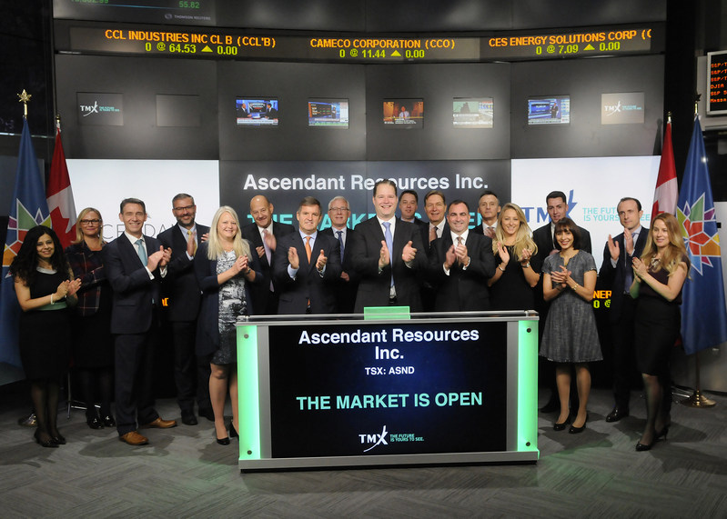 Ascendant Resources Inc. Opens the Market (CNW Group/TMX Group Limited)