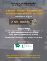 Affiche (Groupe CNW/Canadian Journalism Forum on Violence and Trauma)