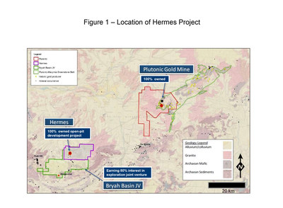 Figure 1 – Location of Hermes Project (CNW Group/Superior Gold)
