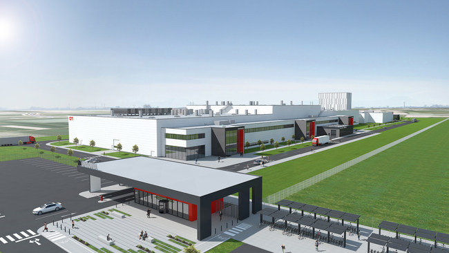 An architect's rendering of Magna's future paint shop in Maribor/Hoče, Slovenia. The facility will bring 400 new jobs to the region. (CNW Group/Magna International Inc.)