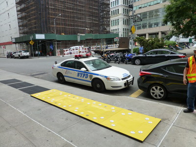 Flex-Cover® protects ventilation grates in New York City