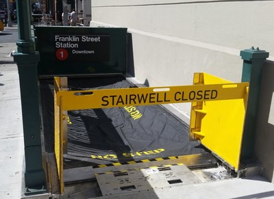 Stairwell Flex-Gate® protects subway entrance in New York City