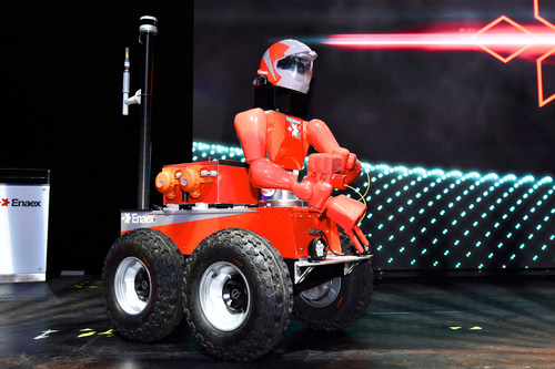 Robominer®, a teleoperated robot for mine safety and exploration, developed by Enaex in collaboration with SRI International.