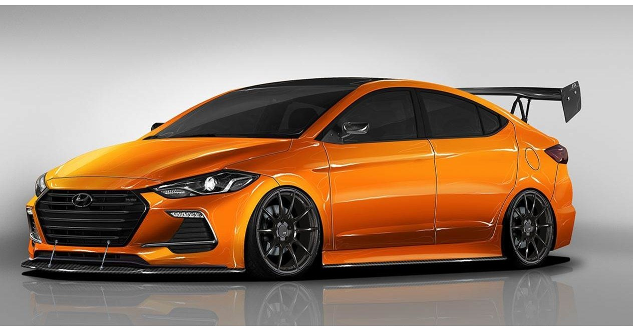 hyundai partners with blood type racing to develop btr edition elantra sport concept for 2017. Black Bedroom Furniture Sets. Home Design Ideas