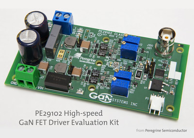 The PE29102 evaluation kit enables users to evaluate the performance of the high-speed gate driver in a full-bridge configuration.
