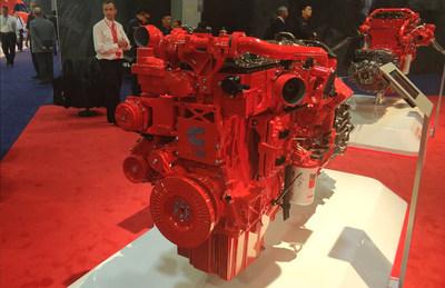 La superpotencia de la serie FOTON AUMAN EST, el motor CUMMINS ISG (PRNewsfoto/Foton Motor Group)