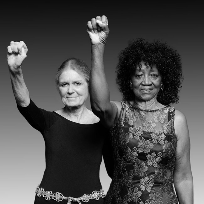 Gloria Steinem & Dorothy Pitman Hughes in updated iconic image