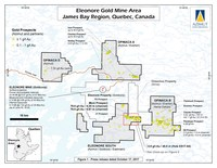 Eleonore Gold Mine Area - James Bay Region, Quebec, Canada (CNW Group/Azimut Exploration Inc.)