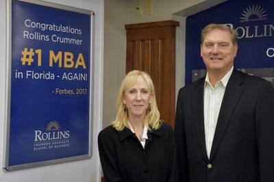 Dr. Deborah Crown, Dean, Crummer Graduate School of Business at Rollins College and Eric Spiegel, Executive in Residence, Crummer Graduate School of Business at Rollins College.