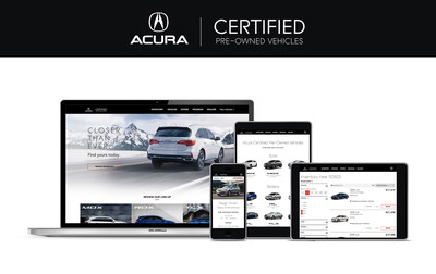 Acura Debuts New Website for Certified Pre-Owned Vehicles to Offer Shoppers Enhanced User Experience, Simplified Car Buying Process