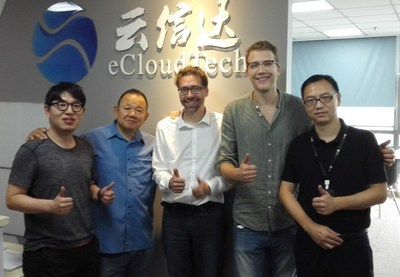 Philipp Reisner, CEO of LINBIT with eCloudtech team