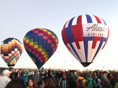 Alaska Airlines hot air balloon to commemorate start of service from San Diego to Albuquerque