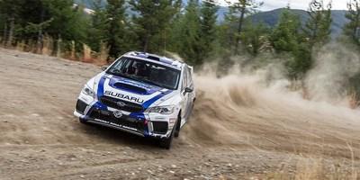 Subaru remporte le Championnat des constructeurs 2017 du CRC avec sa victoire au Pacific Forest Rally (Groupe CNW/Subaru Canada Inc.)